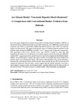 Are Islamic banks' non-bank deposits shock resistant? A comparison with conventional banks: Evidence from Bahrain