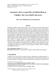 Asymmetry and leverage effect of political risk on volatility: The case of BIST sub-sector