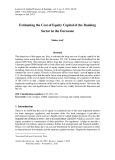 Estimating the cost of equity capital of the banking sector in the Eurozone