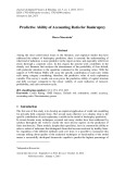 Predictive ability of accounting ratio for bankruptcy