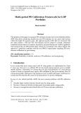 Multi-period PD calibration framework for LDP portfolios
