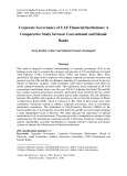 Corporate governance of uae financial institutions: A comparative study between conventional and Islamic banks