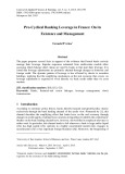 Pro-cyclical banking leverage in France: On its existence and management