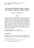 Exchange rate and inflation volatility and stock prices volatility: Evidence from Nigeria, 1986-2012