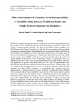 Micro-determinants of customer level interoperability: A feasibility study between traditional banks and mobile network operators in Zimbabwe