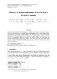 Efficiency of the Brazilian banking system in 2014: A DEA-SBM analysis