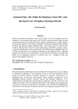 National state aid within the banking union (BU) and the hard core: Periphery financial divide