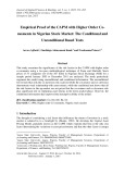 Empirical proof of the CAPM with higher order comoments in Nigerian stock market: The conditional and unconditional based tests