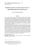 Elucidating corporate governance using new view: Ushaped relationship of ownership structure