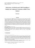 Multivariate t- distribution and garch modelling of volatility and conditional correlations on Brics stock markets