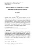 Fair value information and risk management: The moderating effect of corporate governance