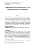 Working capital management and profitability of real estate industry in Jordan: An empirical study