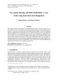 Size, equity backing, and bank profitability: A case study using panel data from Bangladesh
