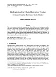The expiration-day effect of derivatives' trading: Evidence from the Taiwanese stock market