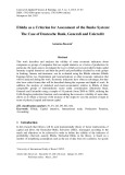 Ebitda as a criterion for assessment of the banks system: The case of Deutesche bank, Generali and Unicredit