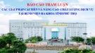 Bài giảng Báo cáo tham luận các giải pháp cải tiến và nâng cao chất lượng dịch vụ tại bệnh viện Đa khoa tỉnh Phú Thọ
