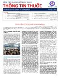 Bản tin Thông tin thuốc bệnh viện Đa khoa tỉnh Sóc Trăng – Số 1, tháng 11/2014