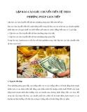 Lập báo cáo lưu chuyển tiền tệ theo phương pháp gián tiếp