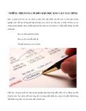 Những nội dung cơ bản khi đọc báo cáo tài chính