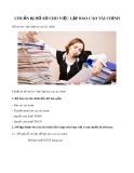 Chuẩn bị hồ sơ cho việc lập báo cáo tài chính