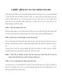 6 bước lập báo cáo tài chính năm 2018