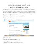 Hướng dẫn cách nộp thuyết minh báo cáo tài chính qua mạng