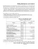 Hướng dẫn lập Báo cáo tài chính theo Thông tư 200