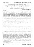 Xây dựng và thẩm định phương pháp xác định độc tố biển Saxitoxin (thuộc nhóm PSP) trong phần ăn được của loài nghêu trắng (Meretrix lyrata) bằng phương pháp LC-MS/MS