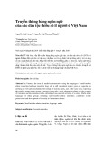 Truyền thông bằng ngôn ngữ của các dân tộc thiểu số ít người ở Việt Nam