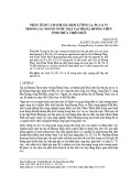 Phân tích và đánh giá hàm lượng Cu, Pb, Cd, Ni trong các nguồn nước mặt tại thị xã Hương Thủy tỉnh Thừa Thiên Huế