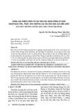Nâng cao nhận thức và vai trò của cộng đồng cư dân nhằm bảo tồn, phát huy những giá trị văn hóa của Đền Chòi (xã Thụy Trường, huyện Thái Thụy, tỉnh Thái Bình)