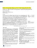 Khảo sát hoạt tính chống oxy hoá và hàm lượng phenolic tổng trong cao chiết Cốt khí củ Polygonum cuspidatum polygonaceae