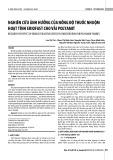 Nghiên cứu ảnh hưởng của nồng độ thuốc nhuộm hoạt tính Eriofast cho vải Polyamit