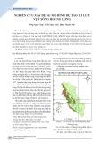 Nghiên cứu xây dựng mô hình dự báo lũ lưu vực sông Hoàng Long
