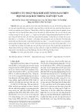 Nghiên cứu phát thải khí oxít nitơ (N2O) trên một số loại đất trồng ngô Việt Nam