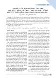 Nghiên cứu ảnh hưởng của ENSO tới hoạt động của xoáy thuận nhiệt đới ở khu vực biển Đông trong giai đoạn 2000 - 2015