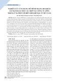 Nghiên cứu ứng dụng mô hình thang đo khảo sát đánh giá nhu cầu hợp tác công tư (PPP) trong ứng phó với biến đổi khí hậu ở Việt Nam