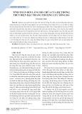 Tính toán bồi lắng hồ chứa của hệ thống thủy điện bậc thang thượng lưu sông Đà