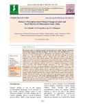 Farmer's perception about climate change in latur and beed districts of Maharashtra state, India