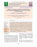 Multivariate approaches to measure the association among socio-economic and demographic factors of the farm households in west Bengal, India