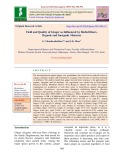 Yield and quality of ginger as influenced by biofertilizers, organic and inorganic manures