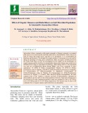 Effect of organic manures and biofertilizers on soil microbial population in amaranth (Amaranthus blitum)