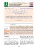 Effect of tillage and cultural practices on growth, yield and economics of Kodo millet