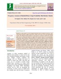 Frequency analysis of rainfall data using probability distribution models