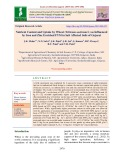 Nutrient content and uptake by wheat (Triticum aestivum L) as influenced by iron and zinc enriched fym in salt affected soils of gujarat