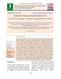 Development of therapeutic food for adolescent girls