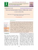 Physical and nutritional quality evaluation of different rice varieties