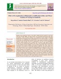 Effect of Zn application on rhizosphere acidification in rice and wheat varieties of varying Zn sensitivity