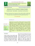 Optimization of process technology for popping of sorghum