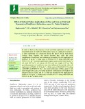 Effect of soil and foliar applications of zinc and iron on yield and economics of sunflower (Helianthus annus L.) under irrigation